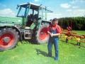 Студент Максим Герасимук на практике в фермерском хозяйстве в Германии (2011 г.)